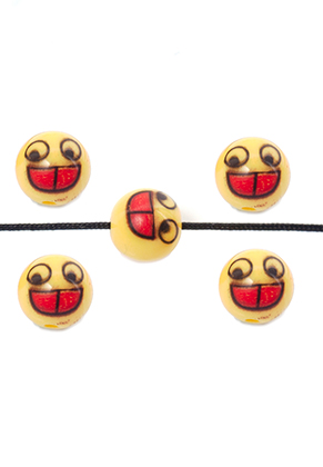 www.snowfall-beads.com - Synthetic beads with emoji 9,5x8,5mm