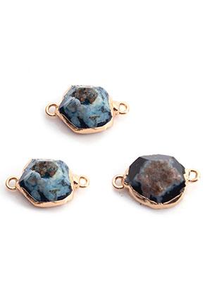 www.snowfall-beads.fr - Pendentif/entre-deux en pierre naturelle Agate 18-26x11-15mm