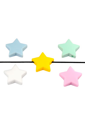 www.snowfall-beads.co.uk - Silicone beads star 24x8mm