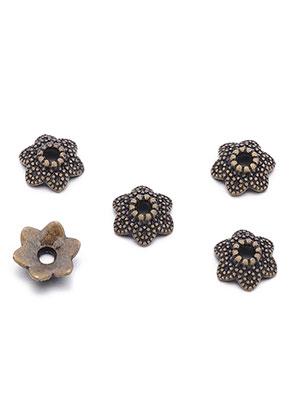 www.snowfall-beads.nl - Metalen kapjes bloem 11x3,5mm