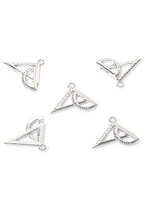 www.snowfall-beads.fr - Pendentifs/breloques en métal geo triangle 24x17mm