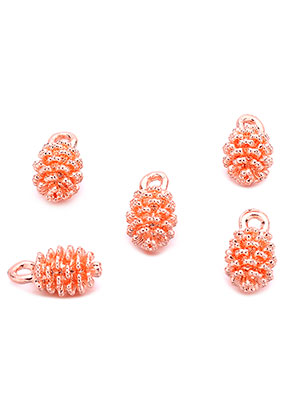 www.snowfall-beads.com - Metal pendants/charms pine cone 13x7mm