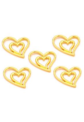 www.snowfall-beads.co.uk - Metal pendants/connectors hearts 16,5x14mm