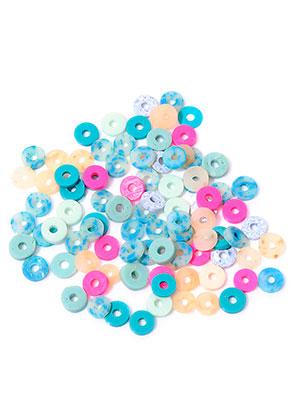 www.snowfall-beads.com - Mix polymer clay heishi beads 4x1mm (± 310 pcs.)
