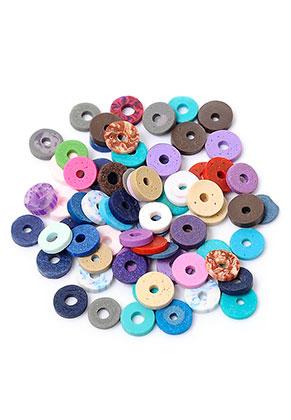 www.snowfall-beads.com - Mix polymer clay heishi beads 5x1mm (± 300 pcs.)