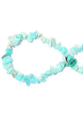 www.snowfall-beads.nl - Natuursteen kralen Amazonite 7-15x4-7mm (± 255 st.)