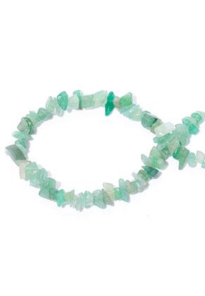 www.snowfall-beads.nl - Natuursteen kralen Green Aventurine 7-15x4-7mm (± 255 st.)