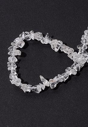 www.snowfall-beads.nl - Natuursteen kralen Crystal 4-13x4-5mm (± 290 st.)