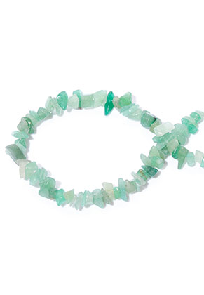 www.snowfall-beads.com - Natural stone beads Green Aventurine 4-13x4-5mm (± 290 pcs.)