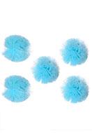 www.snowfall-beads.nl - Stoffen pompon balletjes 40mm - D32087