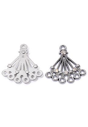 www.snowfall-beads.es - Colgantes/conector/separadores de metal con ojos 27x24mm