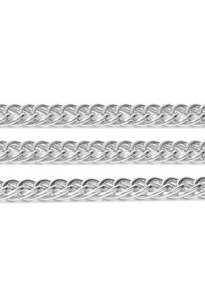 www.snowfall-beads.nl - Metalen ketting met 8,5x5,5mm schakels
