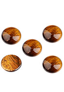 www.snowfall-beads.nl - Natuursteen plaksteen/cabochon Yellow Tiger Eye rond 18mm - D32297