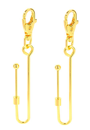 www.snowfall-beads.be - Metalen sleutelhanger/tashanger met haak 11,5x1,6cmm