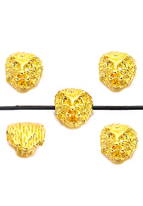 www.snowfall-beads.co.uk - Metal beads lion 13x11mm