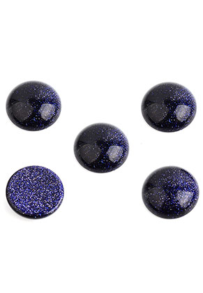 www.snowfall-beads.nl - Natuursteen plakstenen/cabochons Blue Sandstone rond 15mm