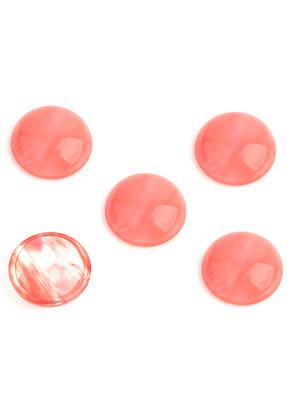 www.snowfall-beads.nl - Natuursteen plakstenen/cabochons Cherry Quartz rond 15mm