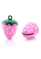 www.snowfall-beads.com - Metal pendant tinkler bell strawberry 25,5x17mm - D32565