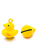 www.snowfall-beads.co.uk - Metal pendant tinkler bell duck 21x17mm - D32566