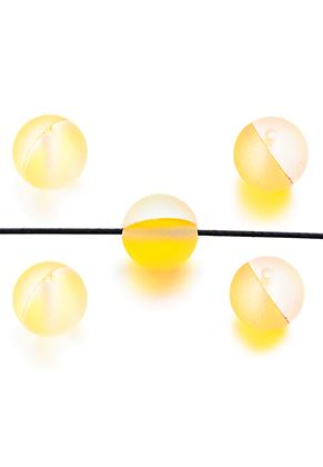 www.snowfall-beads.nl - Glaskralen mat rond 8mm