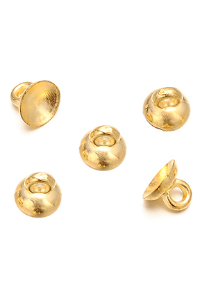 www.snowfall-beads.co.uk - Metal look caps with eye 7x6mm (± 60 pcs.)
