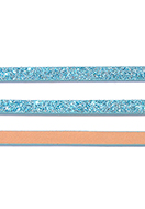 www.snowfall-beads.com - Imitation leather strap with glitter 5mm, 2mm thick - D32766