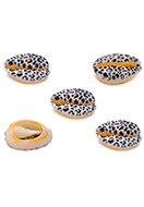 www.snowfall-beads.be - Schelp kralen met panterprint ± 15-22x11-14mm - D32799
