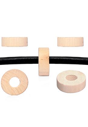 www.snowfall-beads.es - Abalorios de madera Schima rondelle ± 28x10mm