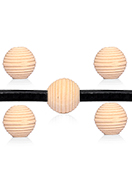 www.snowfall-beads.com - Wooden beads Schima round ± 20x19mm - D32812