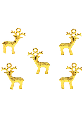 www.snowfall-beads.nl - Metalen hangers hert/ rendier 25x22mm