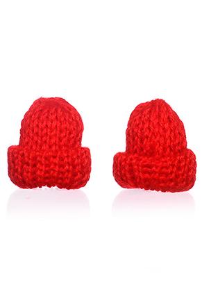 www.snowfall-beads.nl - Stoffen mini mutsen 45x25mm