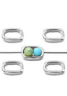 www.snowfall-beads.nl - Metalen kralen ring 16x11mm voor kralen 6mm - D32995
