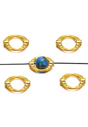 www.snowfall-beads.nl - Metalen kralen ovaal 15,5x11mm voor kraal 8mm