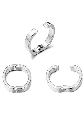 www.snowfall-beads.com - Metal ring/connector/clasp oval 19,5x18mm