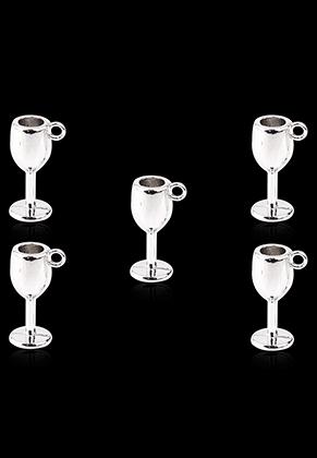 www.snowfall-beads.co.uk - Metal pendants/charms wine glass 15x6mm