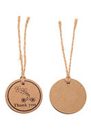www.snowfall-beads.co.uk - Cardboard tags/labels/pendants round with string 95x35mm - D33616