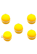 www.snowfall-beads.com - Synthetic pendants/charms macaron 18x14mm - D33676
