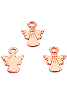 www.snowfall-beads.com - Metal pendants angel 31x25mm - D34070