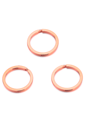 www.snowfall-beads.com - Stainless steel key fob rings 28mm