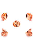 www.snowfall-beads.com - Metal look caps with eye 10x7mm voor bead 13-15mm (± 20 st.) - D34483
