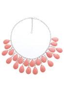 www.snowfall-beads.nl - DoubleBeads Creation sieradenpakket metalen halsketting met kunststof hangers/bedels druppel facet geslepen (inclusief handleiding) - DA00018