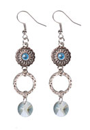 www.snowfall-beads.com - DoubleBeads Jewelry Kit earrings with SWAROVSKI ELEMENTS beads ± 7cm - DB0601