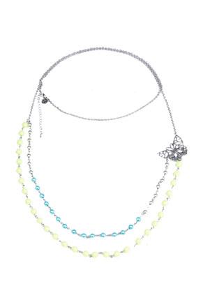 www.snowfall-beads.com - DoubleBeads Jewelry Kit necklace with SWAROVSKI ELEMENTS beads