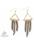 www.snowfall-beads.nl - DoubleBeads Creation Mini sieradenpakket metalen oorbellen met aluminium kettingen