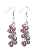 www.snowfall-beads.com - DoubleBeads Creation Mini jewelry kit metal earrings with synthetic beads - DE00130