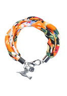 www.snowfall-beads.be - DoubleBeads Creation Mini sieradenpakket stoffen armband - DE00149