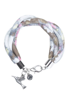 www.snowfall-beads.be - DoubleBeads Creation Mini sieradenpakket stoffen armband