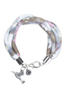 www.snowfall-beads.be - DoubleBeads Creation Mini sieradenpakket stoffen armband - DE00152