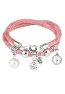 www.snowfall-beads.com - DoubleBeads Creation Mini jewelry kit imitation leather bracelet double - DE00183