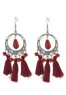 www.snowfall-beads.com - DoubleBeads Creation Mini jewelry kit earrings with tassel - DE00194